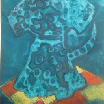 Batik klejowy- czyli technika barwnego malowania klejem na papierze.